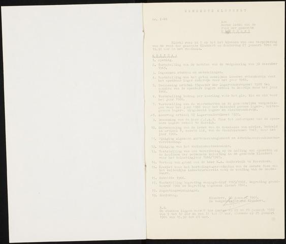Klundert: Notulen gemeenteraad, mei 1933-1996 1966