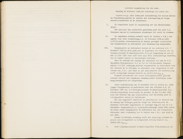 Hoeven: Notulen gemeenteraad, 1928-1996 1938-01-01