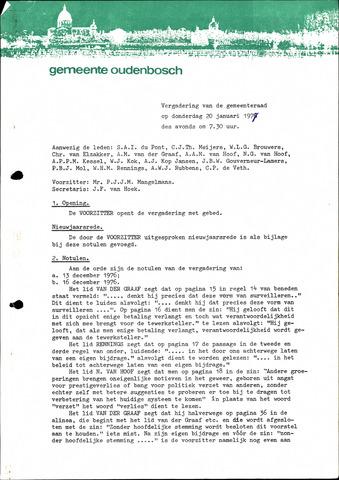 Oudenbosch: Notulen gemeenteraad, 1939-1994 1977-01-01