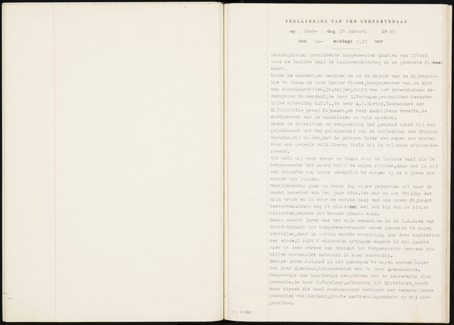 Fijnaart en Heijningen: notulen gemeenteraad, 1934-1995 1949