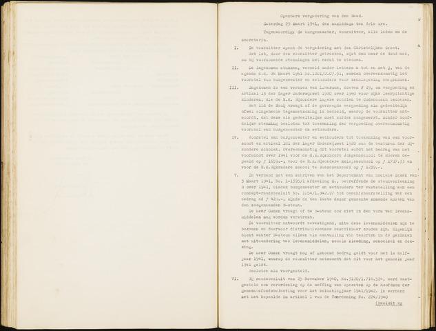 Hoeven: Notulen gemeenteraad, 1928-1996 1941-01-01