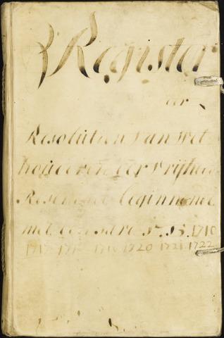 Roosendaal: Registers van resoluties, 1671-1673, 1675, 1677-1795 1715
