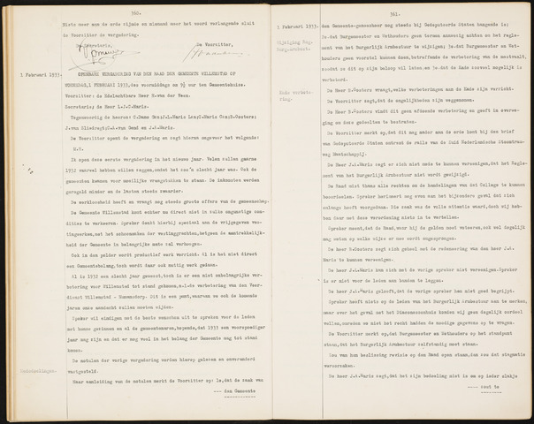 Willemstad: Notulen gemeenteraad, 1927-1995 1933-01-01