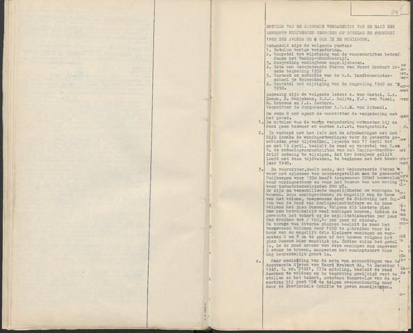 Huijbergen: Notulen gemeenteraad 1935-1996 1950-01-01