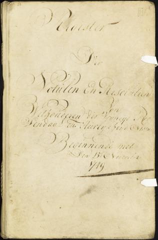 Roosendaal: Registers van resoluties, 1671-1673, 1675, 1677-1795 1749