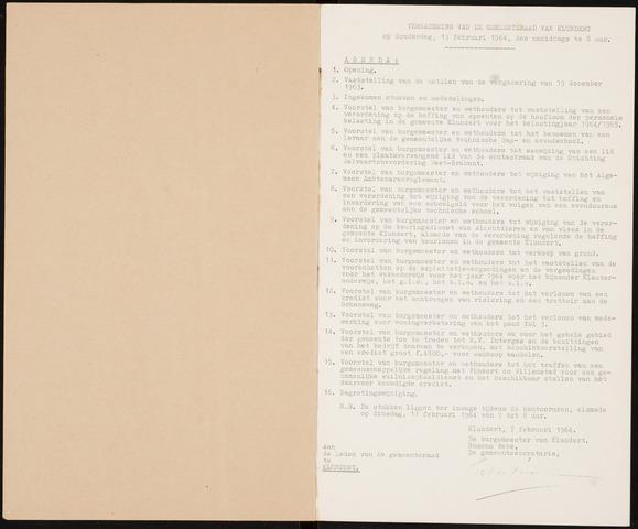 Klundert: Notulen gemeenteraad, mei 1933-1996 1964