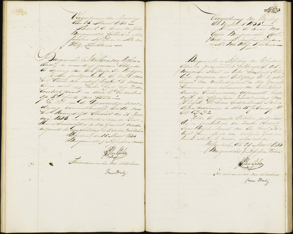 Roosendaal: Notulen van burgemeester en assessoren, 1827-1851 1833