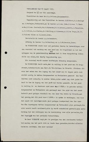 Roosendaal: Notulen gemeenteraad (besloten), 1919-1935 1933