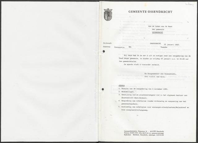 Ossendrecht: Notulen gemeenteraad, 1920-1996 1982