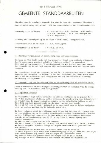 Standdaarbuiten: Notulen gemeenteraad, 1937-1996 1979-01-01