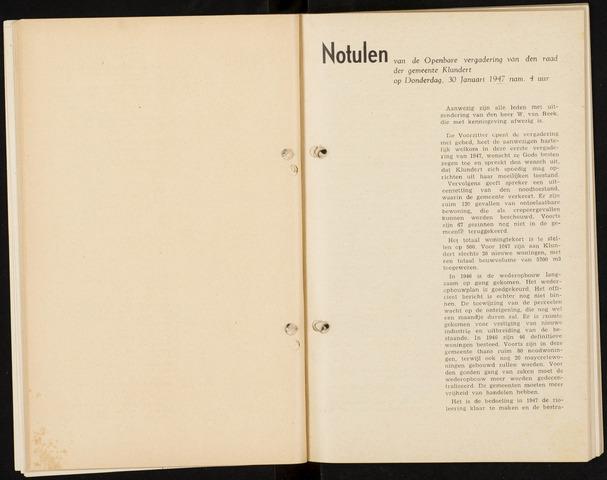 Klundert: Notulen gemeenteraad, mei 1933-1996 1947