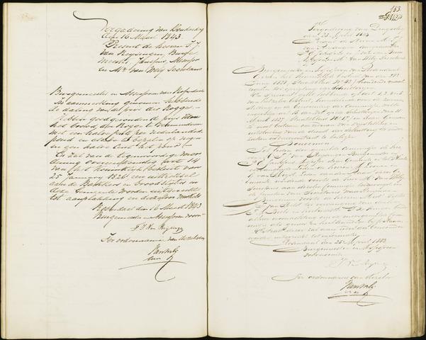 Roosendaal: Notulen van burgemeester en assessoren, 1827-1851 1843