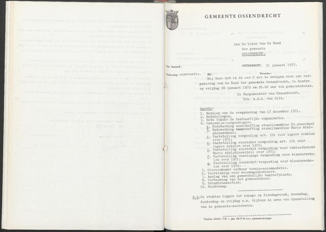 Ossendrecht: Notulen gemeenteraad, 1920-1996 1972