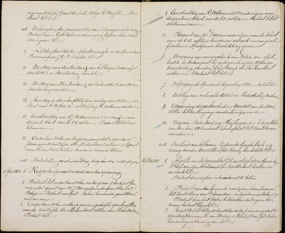 Roosendaal: Inhoudsopgaven notulen, 1849-1903 1885