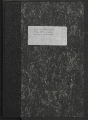 Huijbergen: Notulen gemeenteraad 1935-1996 1986-01-01