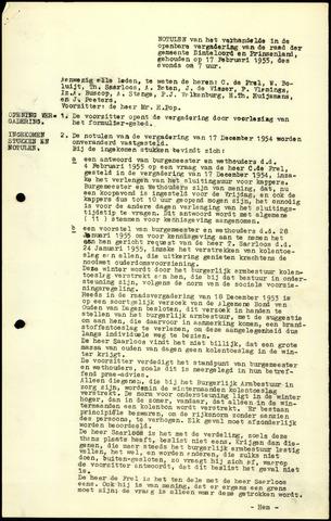 Dinteloord: Notulen gemeenteraad, 1946-1996 1955