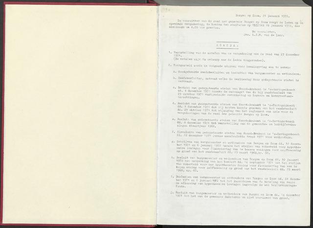 Bergen op Zoom: Notulen gemeenteraad, 1926-1996 1972-01-01
