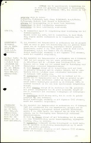 Dinteloord: Notulen gemeenteraad, 1946-1996 1967