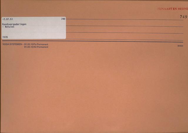Fijnaart en Heijningen: notulen gemeenteraad, 1934-1995 1978