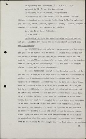 Roosendaal: Notulen gemeenteraad (besloten), 1919-1935 1929