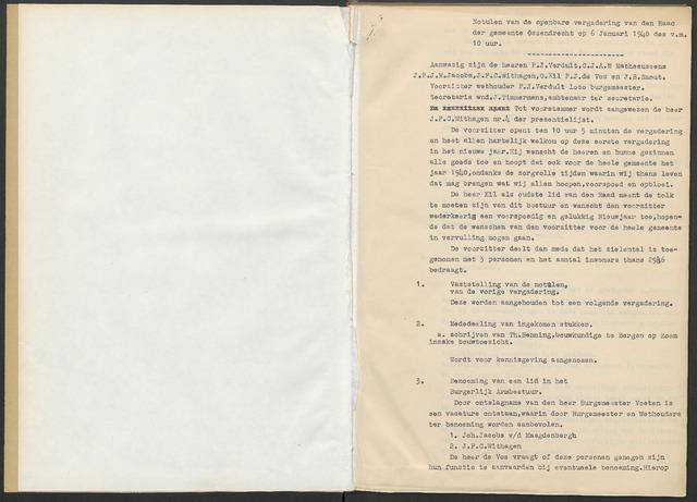 Ossendrecht: Notulen gemeenteraad, 1920-1996 1940