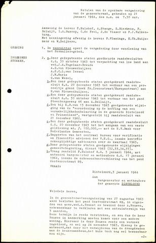 Dinteloord: Notulen gemeenteraad, 1946-1996 1964