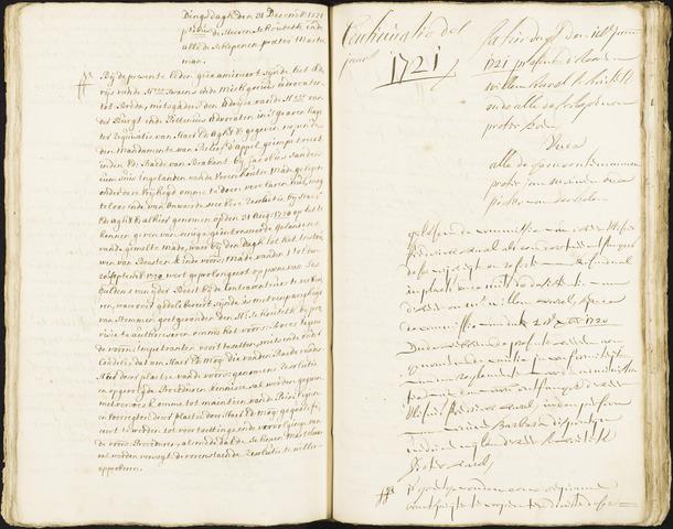 Roosendaal: Registers van resoluties, 1671-1673, 1675, 1677-1795 1721