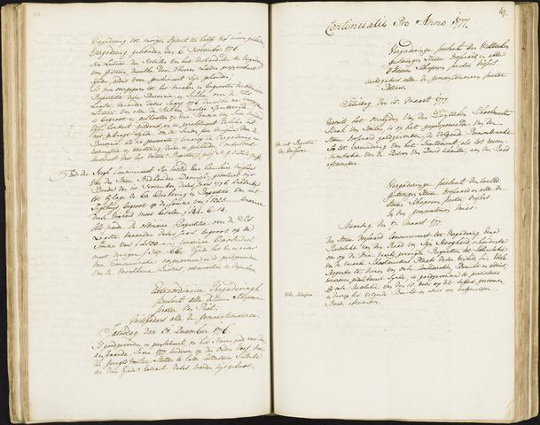 Roosendaal: Registers van resoluties, 1671-1673, 1675, 1677-1795 1777