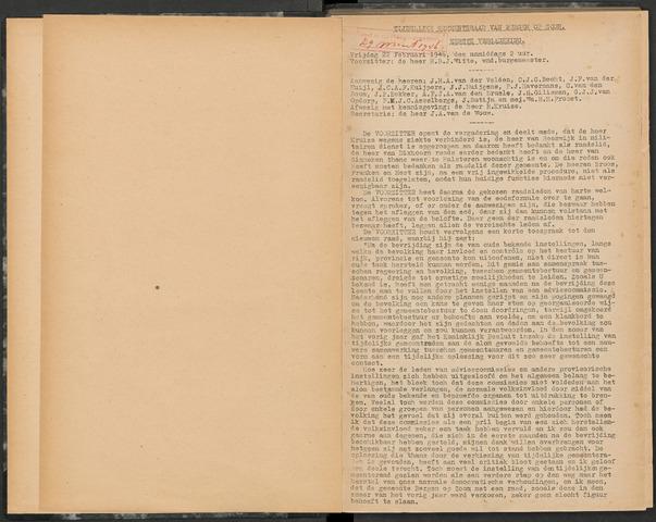 Bergen op Zoom: Notulen gemeenteraad, 1926-1996 1946-01-01