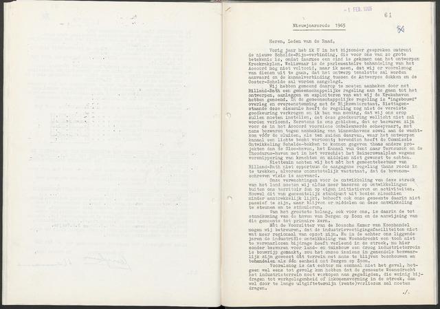 Woensdrecht: Notulen gemeenteraad, 1922-1996 1965-01-01