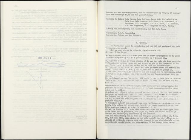 Zevenbergen: Notulen gemeenteraad, 1930-1996 1968-01-01