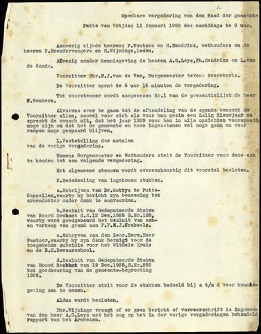 Putte: Notulen gemeenteraad, 1928-1996 1929-01-01