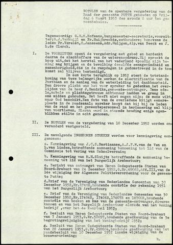 Putte: Notulen gemeenteraad, 1928-1996 1953-01-01