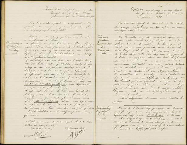 Wouw: Notulen gemeenteraad (besloten), 1902-1919 1919