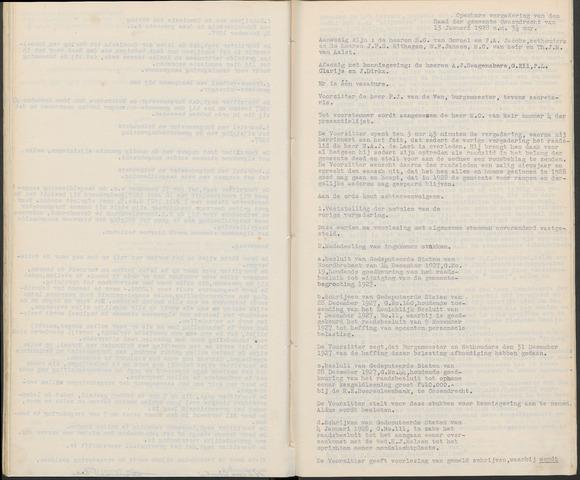 Ossendrecht: Notulen gemeenteraad, 1920-1996 1928