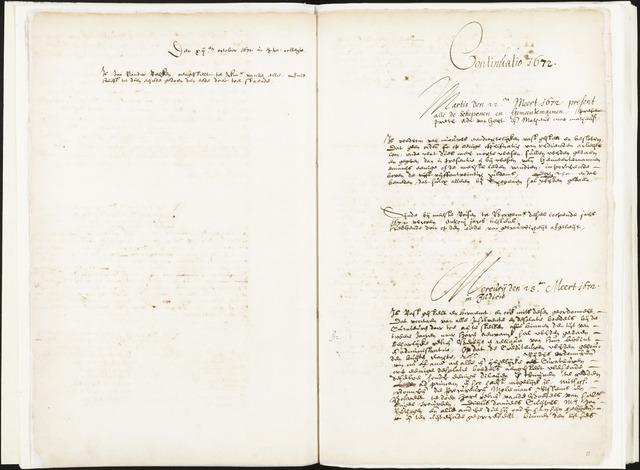 Roosendaal: Registers van resoluties, 1671-1673, 1675, 1677-1795 1672