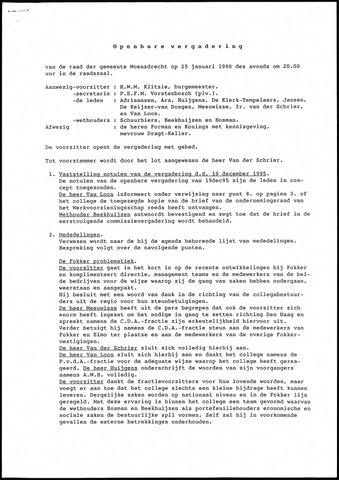 Woensdrecht: Notulen gemeenteraad, 1922-1996 1996-01-01