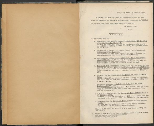 Bergen op Zoom: Notulen gemeenteraad, 1926-1996 1941-01-01