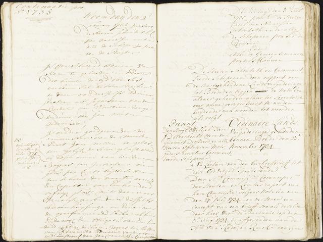Roosendaal: Registers van resoluties, 1671-1673, 1675, 1677-1795 1735