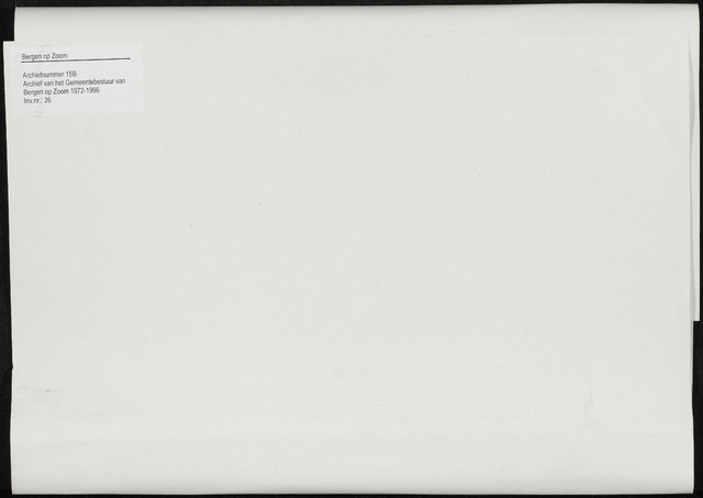 Bergen op Zoom: Notulen gemeenteraad, 1926-1996 1995-01-01