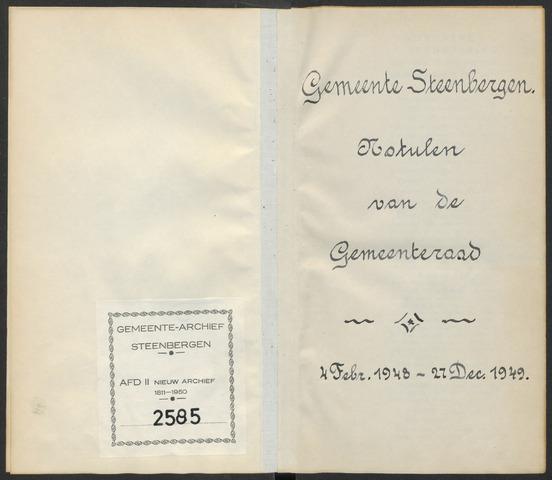 Steenbergen: Notulen gemeenteraad, 1920-1996 1948-01-01