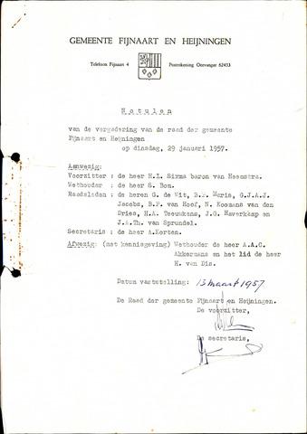 Fijnaart en Heijningen: notulen gemeenteraad, 1934-1995 1957