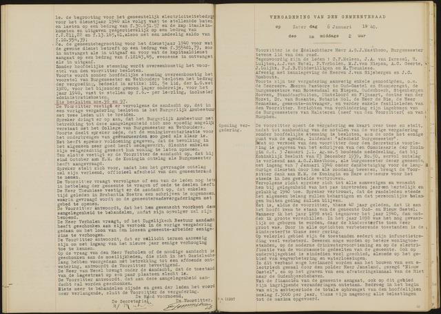 Oud en Nieuw Gastel: Notulen gemeenteraad, 1938-1980 1940-01-01