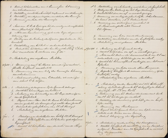 Roosendaal: Inhoudsopgaven notulen, 1849-1903 1901