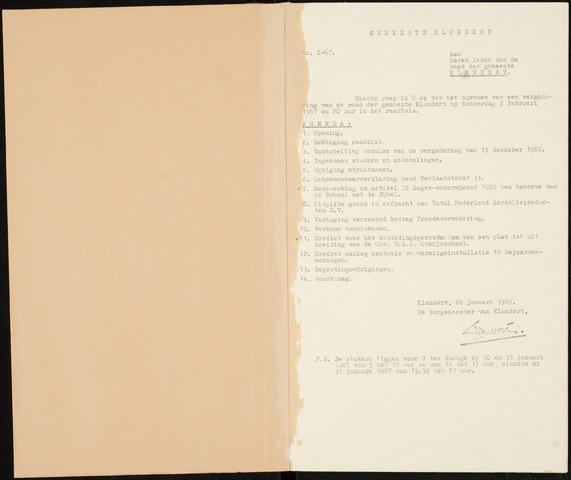 Klundert: Notulen gemeenteraad, mei 1933-1996 1967