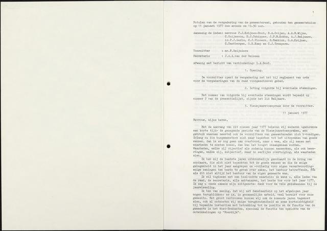 Zevenbergen: Notulen gemeenteraad, 1930-1996 1977-01-01