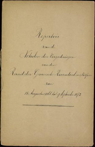 Roosendaal: Inhoudsopgaven notulen, 1849-1903 1867
