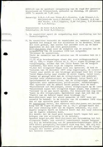Dinteloord: Notulen gemeenteraad, 1946-1996 1979