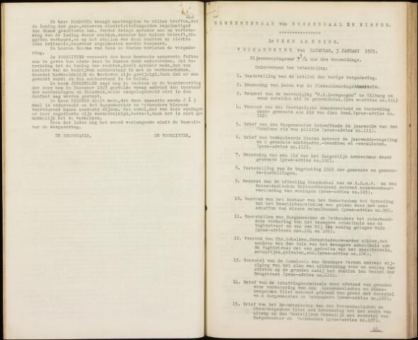 Roosendaal: Notulen gemeenteraad, 1916-1999 1925