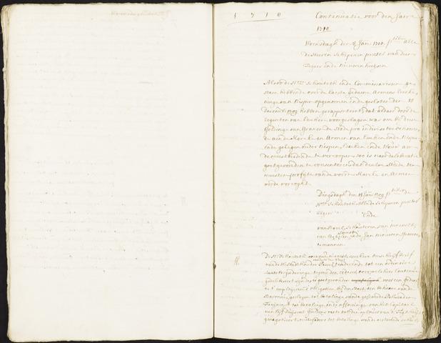 Roosendaal: Registers van resoluties, 1671-1673, 1675, 1677-1795 1710
